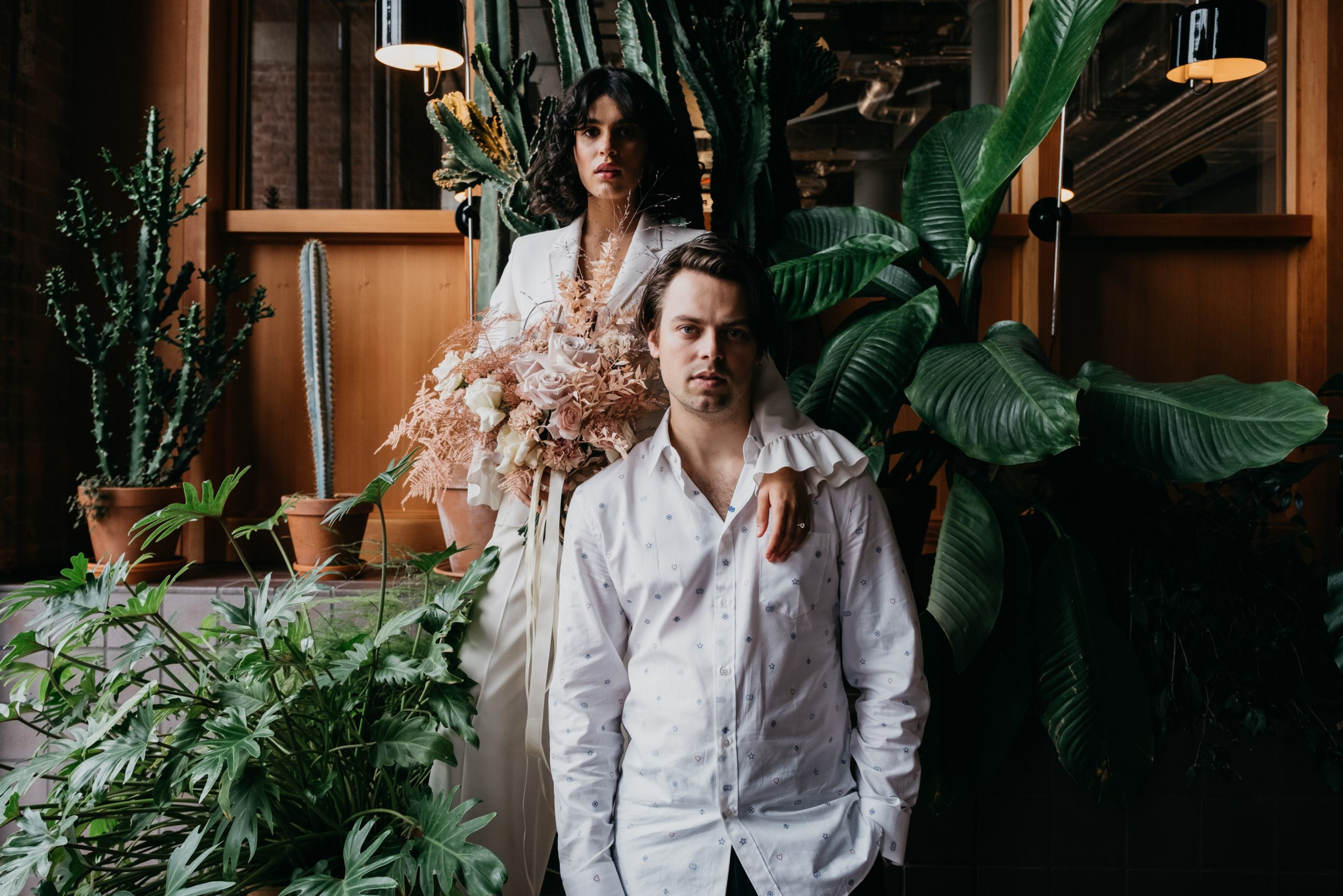 An intimate, botanical wedding at Ducie Street Warehouse